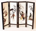 Picture of Chinese screen with 4 panels