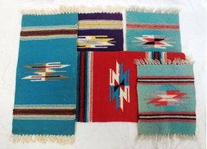 Picture of Lot of 5 Indian rugs