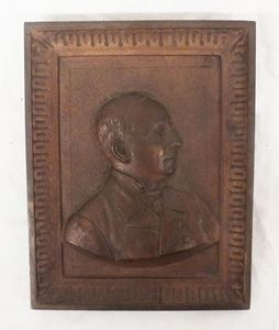 Picture of 1897 bronze portrait  plaque