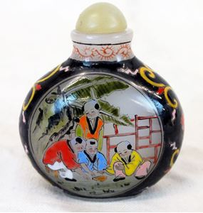 Picture of Chinese Peking glass perfume bottle