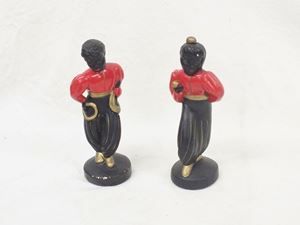 Picture of Alexander Backher pair of chalkware dancers figurines