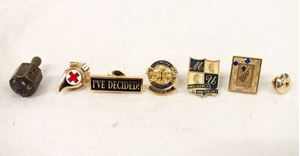 Picture of Lot of 7 pins, including 10K Gold Filled pin