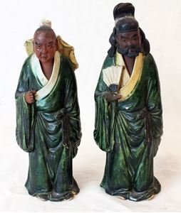 Picture of Pair of Chinese mud figurines
