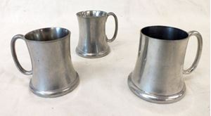 Picture of Lot of 3 Abercrombie & Fitch pewter mugs